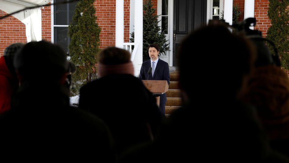 Kanadas Premier Justin Trudeau: Staatsführung in Quarantäne
