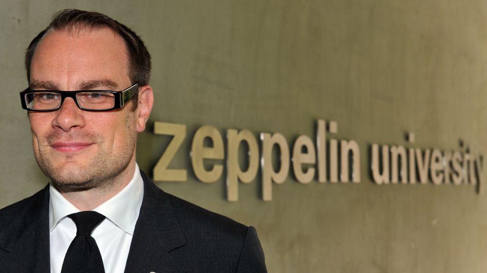 Stephan Jansen, umstrittener Ex-Präsident der privaten Zeppelin University (ZU) in Friedrichshafen am Bodensee
