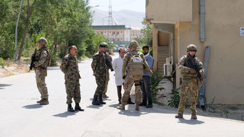 Britische Soldaten in Kabul