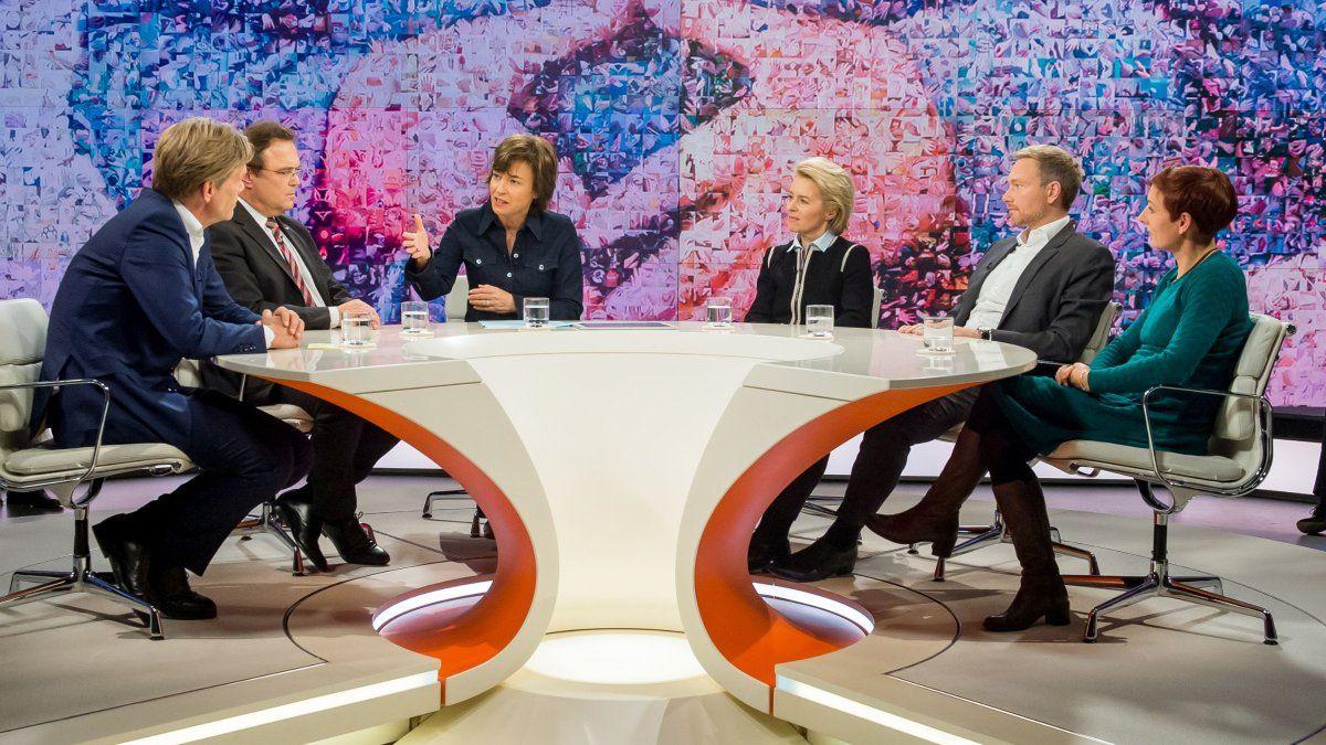 """EINMALIGE VERWENDUNG ZDF-Sendung """"Maybrit Illner"""","""
