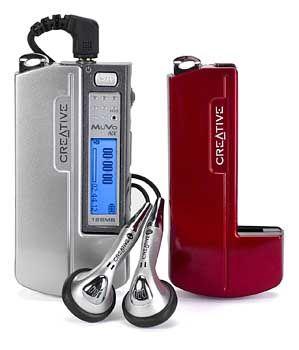 """Taschen-Stereoanlage: MP3-Sticks (hier ein Creative MuVo) werden zum """"Transportmedium"""" für große Mengen Musik"""