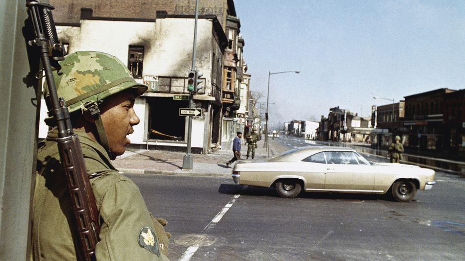 Nationalgarde in Washington nach der Ermordung Martin Luther Kings (1968)
