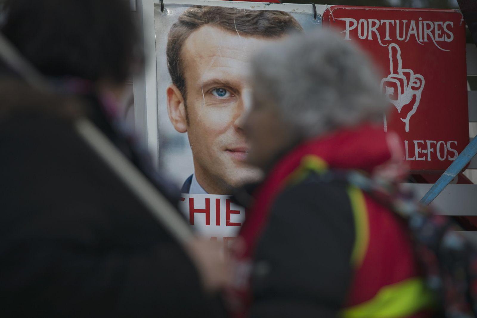 Streiks in Frankreich, Macron