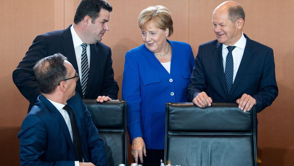 Regierung Merkel: Nicht durch progressive Ideen aufgefallen