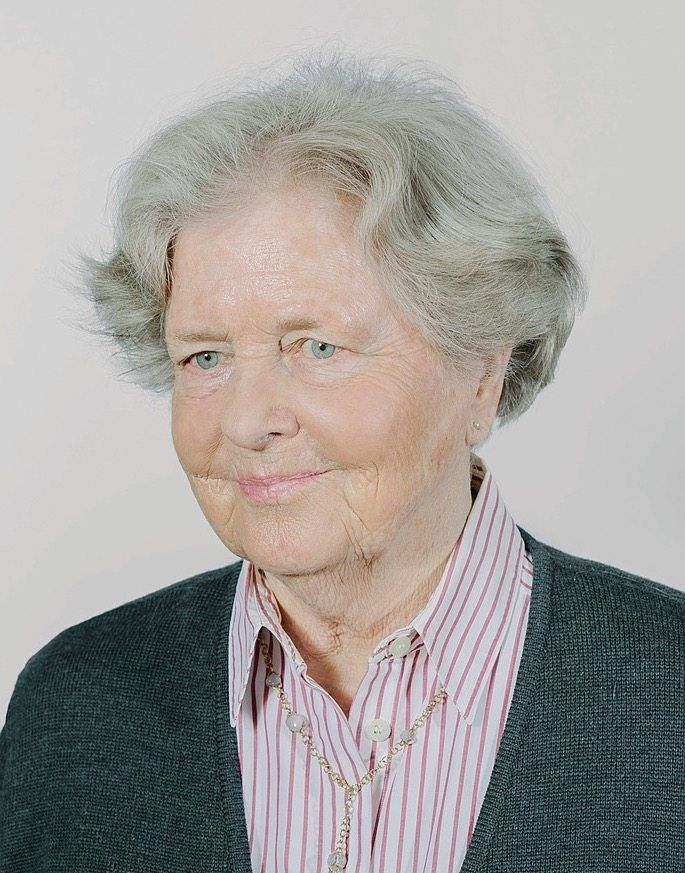 Marianne von Weizsäcker, Born in 1932: Because there was a shortage of paper, she did her school work in the margins of the newspaper.