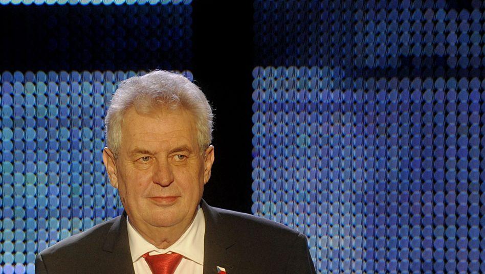 Wahlsieger Milos Zeman (bei einer TV-Debatte): Vor allem in ländlichen Gebieten klar vorn