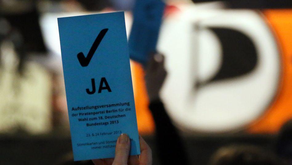 Stimmkarte der Piraten Berlin: Nur wer zahlt, darf mitentscheiden