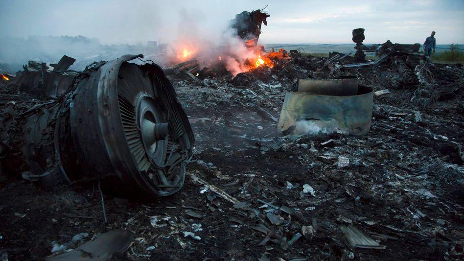 Absturzstelle in der Ukraine (Archivbild)