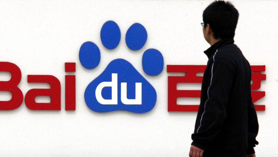 Baidu-Logo an der Firmenzentrale in Peking: Auf der Watchlist der US-Regierung