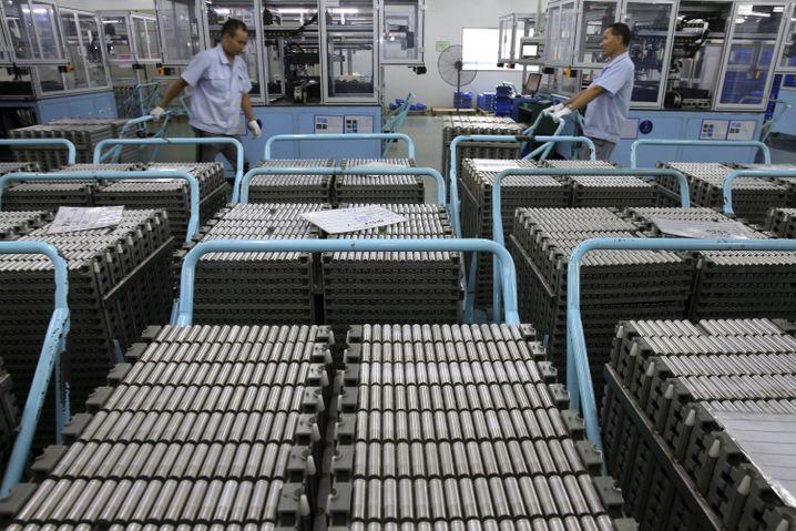Fabrik mit Lithium-Ionen-Batterien in China