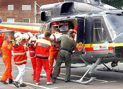Mit Rettungshelikoptern wurden Intensivpatienten aus Dresden ausgeflogen