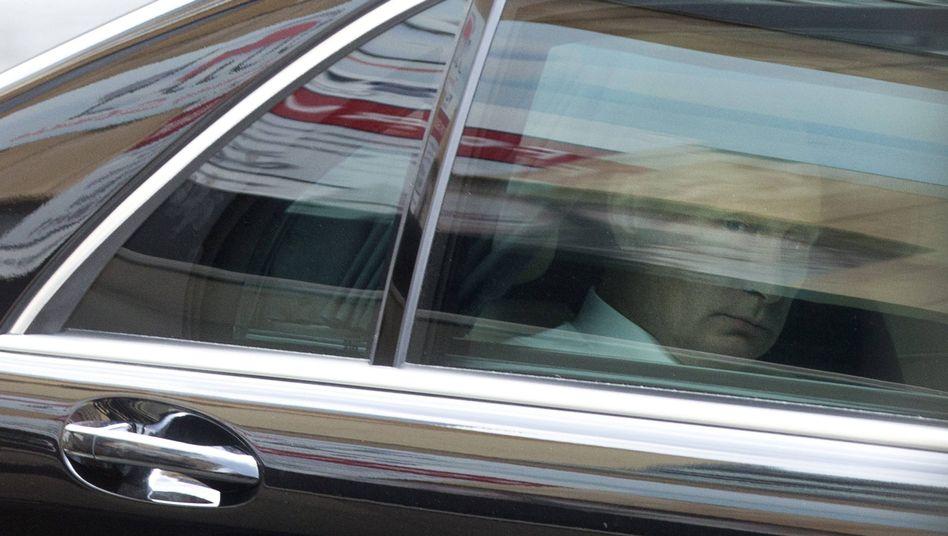 Russian President Vladimir Putin as he departs from G-20 summit in Brisbane, Australia on Nov. 16