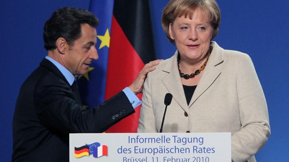 Kanzlerin Merkel, Präsident Sarkozy: Durchbruch in letzter Minute