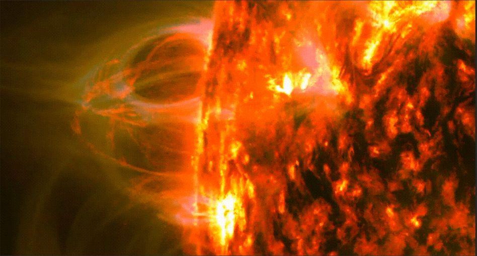 So sieht es aus, wenn Plasma erhitzt, aufsteigt und auf die Sonne hinabregnet.
