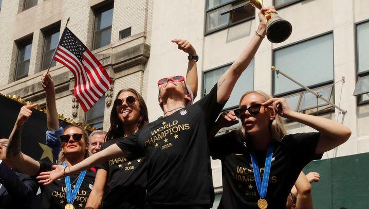Fußballweltmeister USA: So feiert New York die Champions