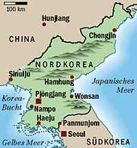 Nach 52 Jahren vor der Anerkennung durch die Bundesrepublik: die Demokratische Volksrepublik Nordkorea, ...