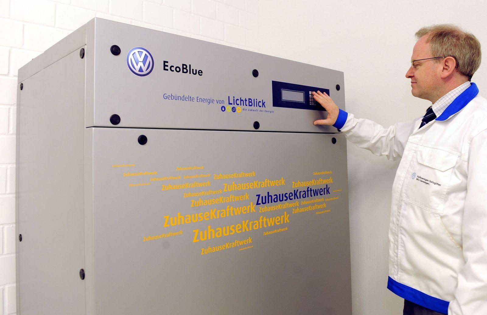 Umweltfreundliche Minikraftwerke angetrieben von VW-Motoren