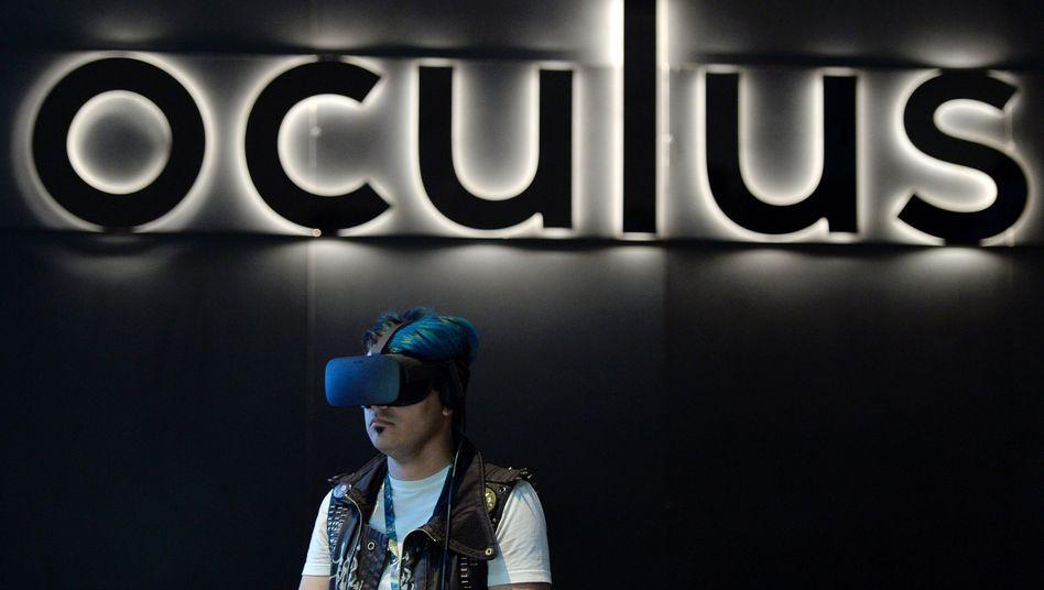 Gamer mit Oculus Rift