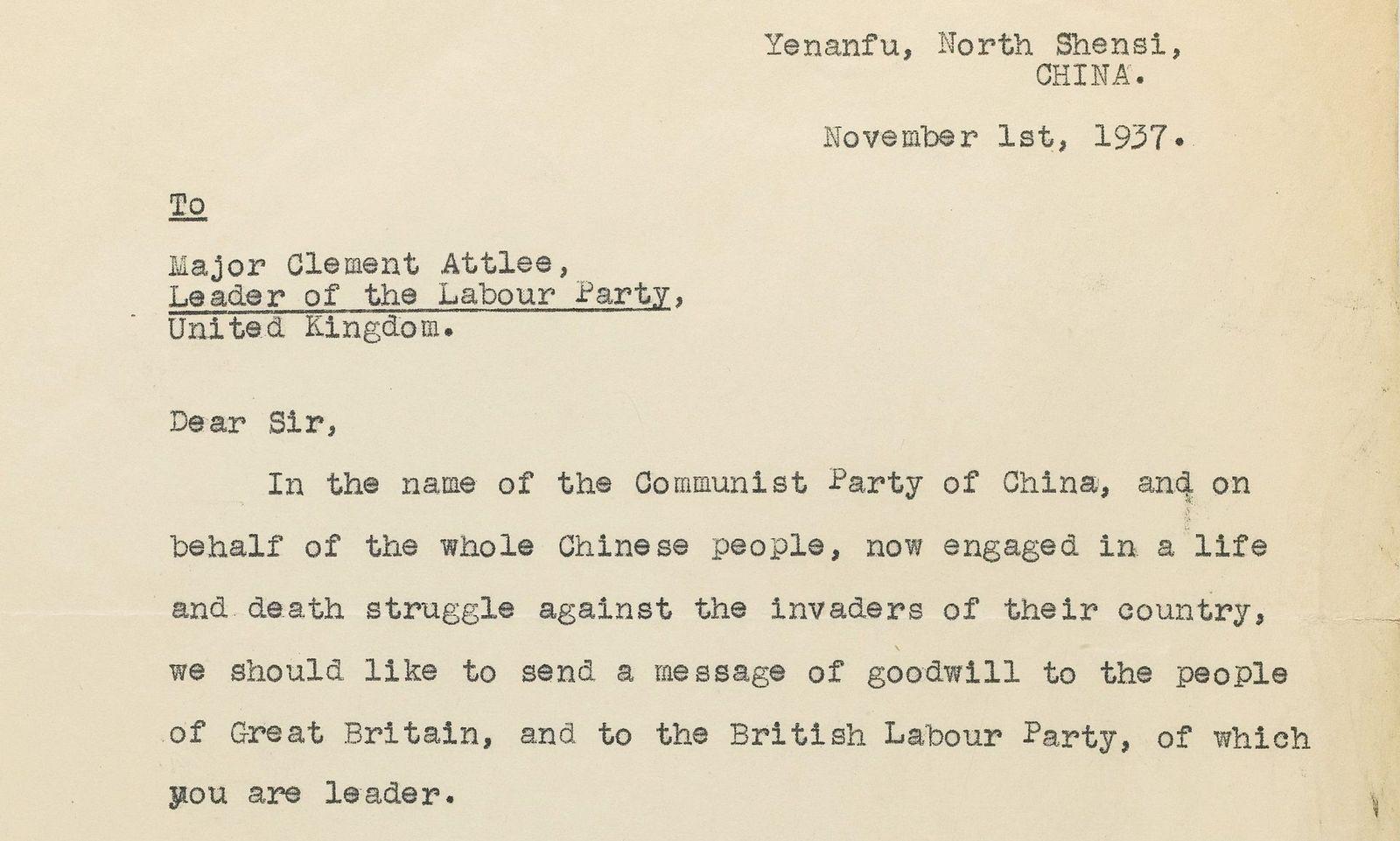 Auktion/ Mao Zedong Brief