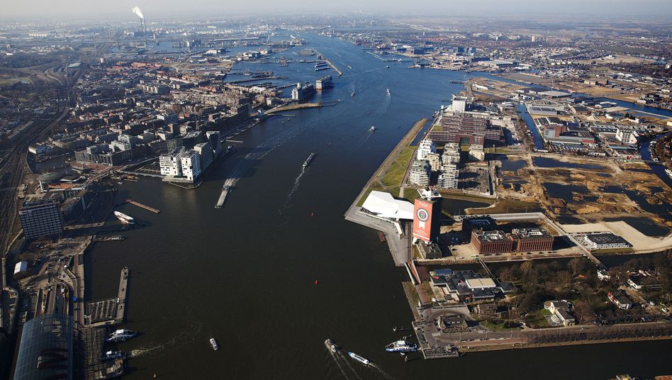 Luftbild von Amsterdam
