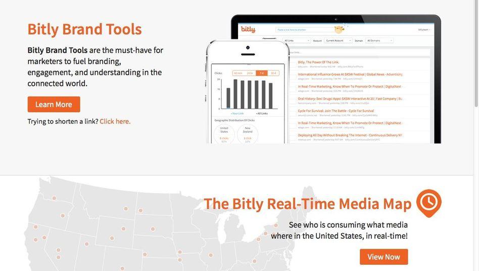 Bitly-Seite (Screenshot): Fünf Schritte sollen die Nutzer ausführen
