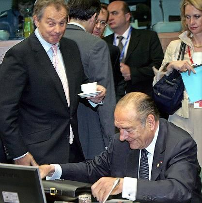 Blair may once again make life difficult for Chirac.