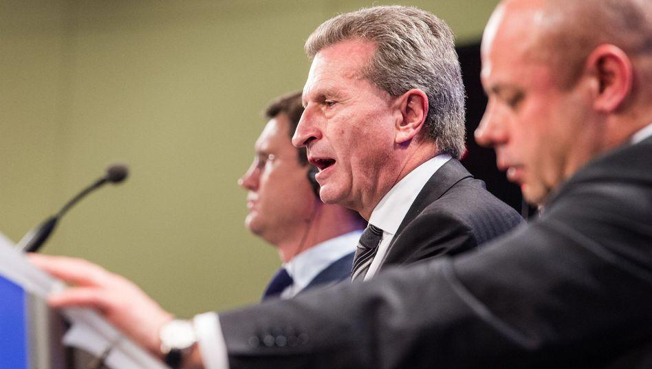 Noch-Energie-Kommissar Oettinger: Versorgungskrise vorerst verhindert