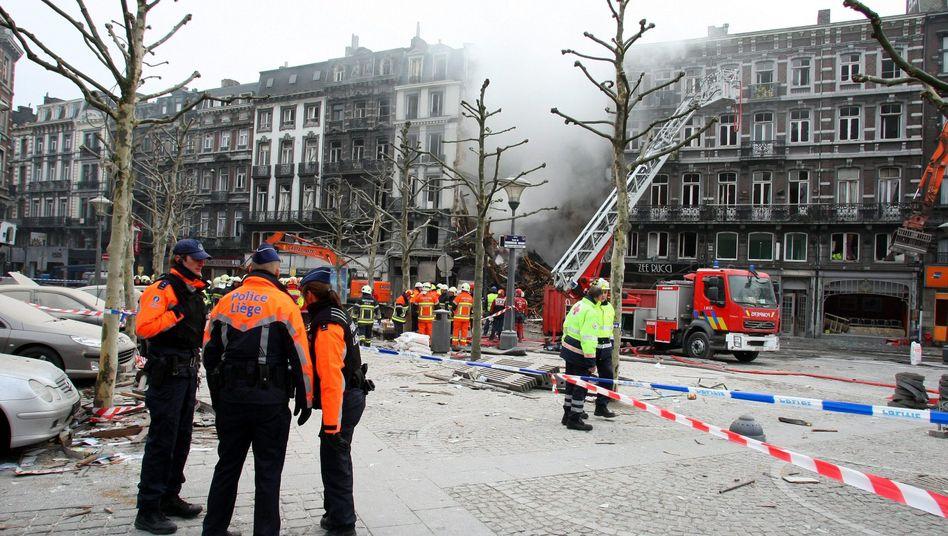 Eingestürztes Haus in Belgien: Ursache war vermutlich ein Gasleck