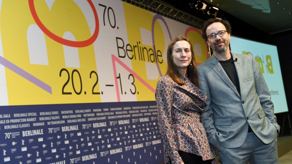 Die neue Berlinale-Leitung Mariette Rissenbeek und Carlo Chatrian