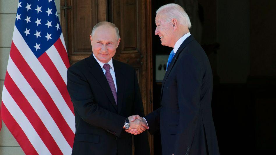 Wladimir Putin und Joe Biden in Genf