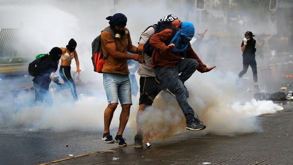Proteste in Santiago de Chile