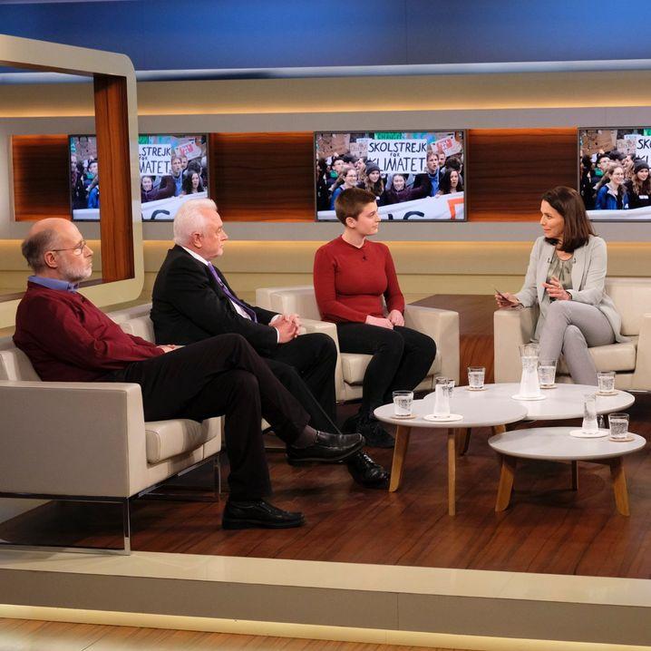 Moderatorin Will (3.v.r.) mit ihren Studiogästen