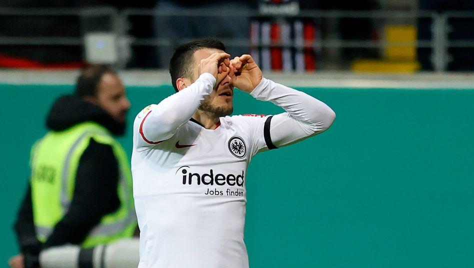 Mit seinen Toren sicherte Filip Kostic der Eintracht den Sieg