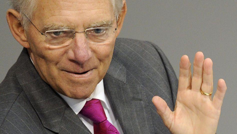 Wolfgang Schäuble: Der Finanzminister will die Steuern nicht senken
