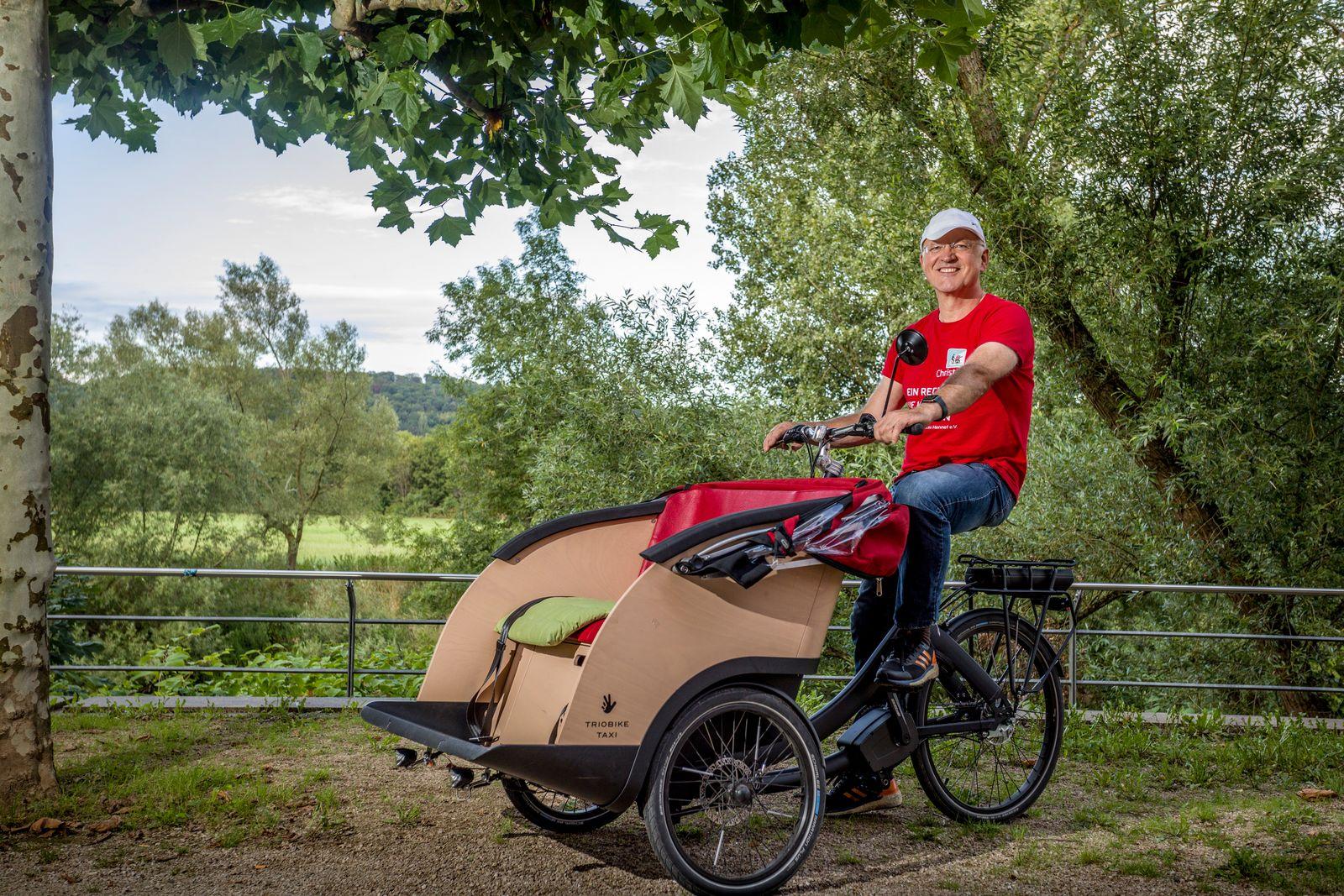Rikschafahrer Christoph Luegering
