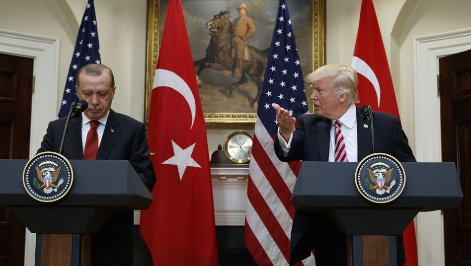 Recep Tayyip Erdogan (links) und Donald Trump
