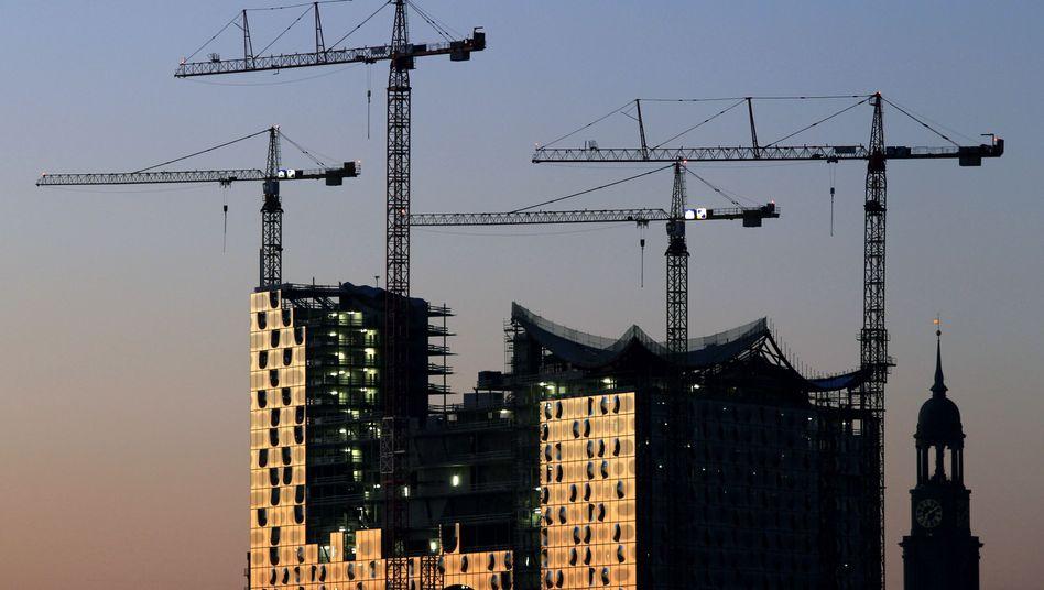 Zankapfel von Stadt und Baukonzern: Die Baustelle der Elbphilharmonie 2010