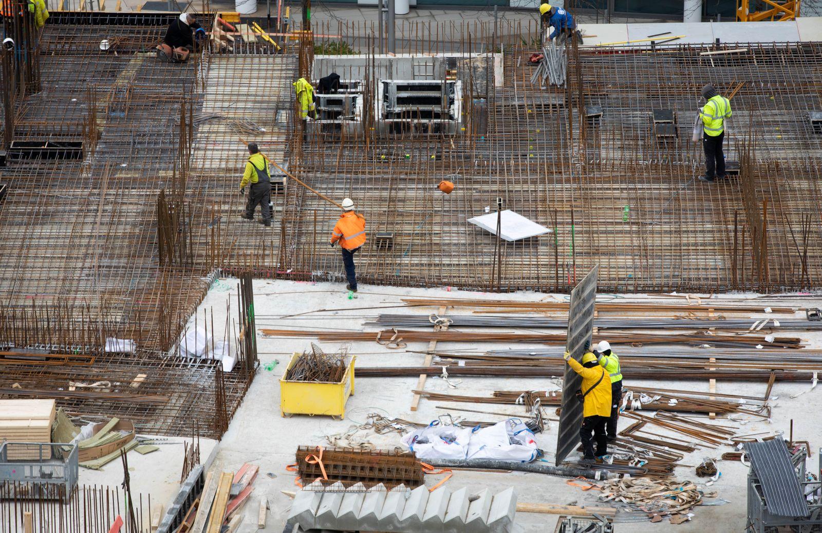 Weiterhin stabiler Auftragseingang beim Bauhauptgewerbe