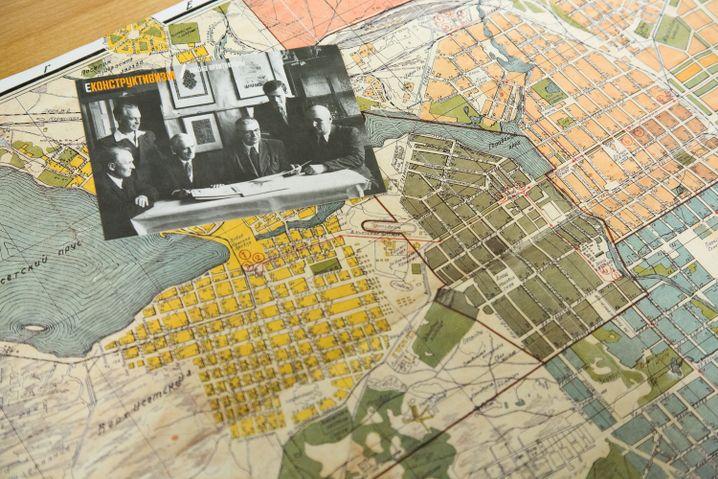 Alter Stadtplan von Jekaterinburg, das von 1924 bis 1991 Swerdlowsk hieß