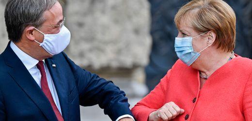 Armin Laschet und Angela Merkel: Schwieriges Zusammenspiel von CDU-Chef und Kanzlerin