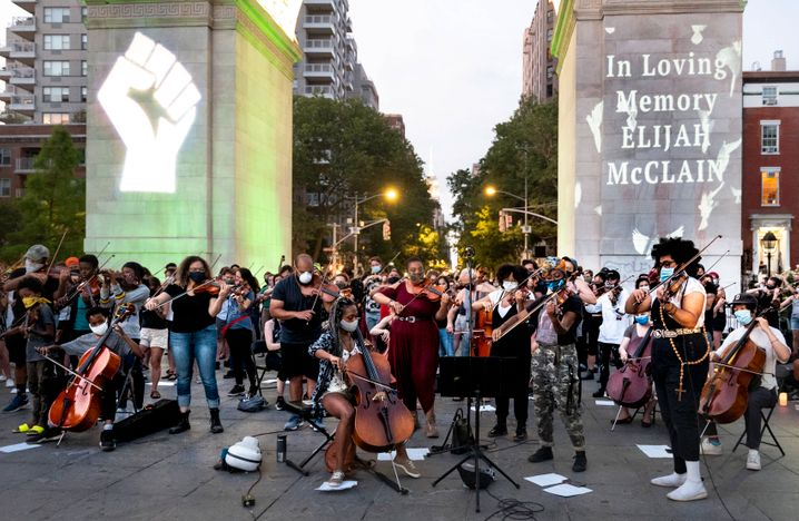 Black-Lives-Matter-Demonstration in New York