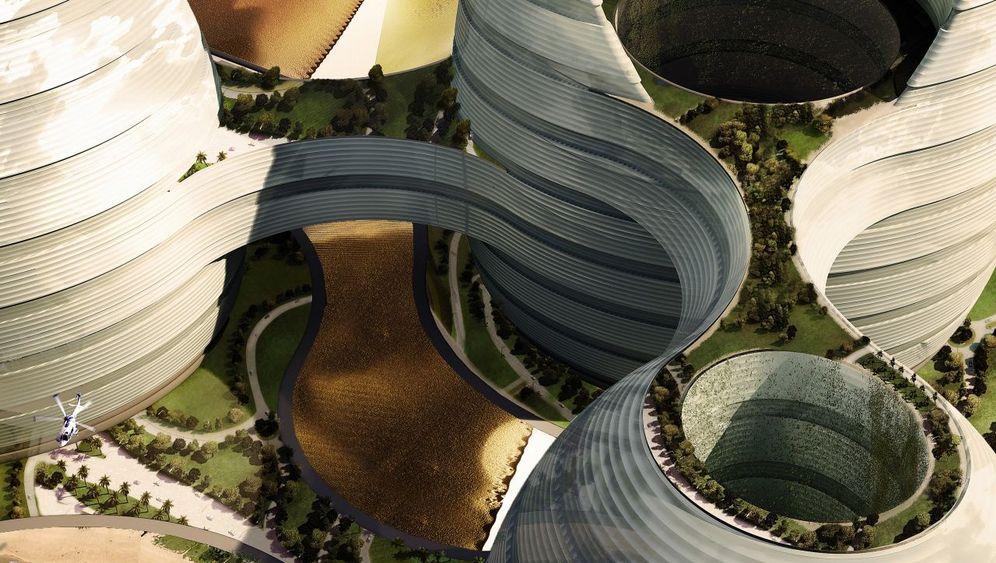 Emirate-Bauprojekt: Schlafen im Halbmond, leben im Bienenstock