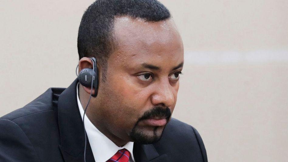 Abiy Ahmed bei einer Konferenz im russischen Sotschi: Äthiopiens Premier steht unter Druck