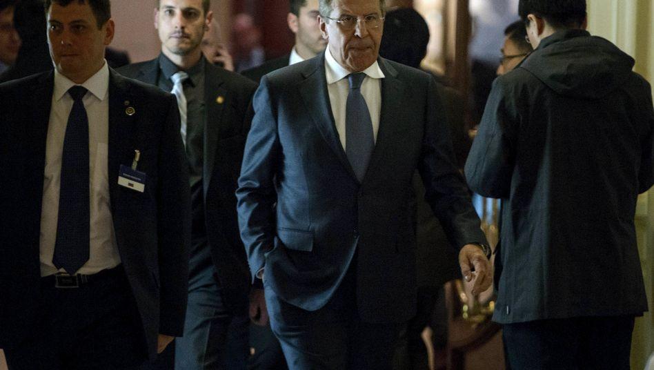 Russlands Außenminister Lawrow in Lausanne: Erst Optimismus, dann Abreise