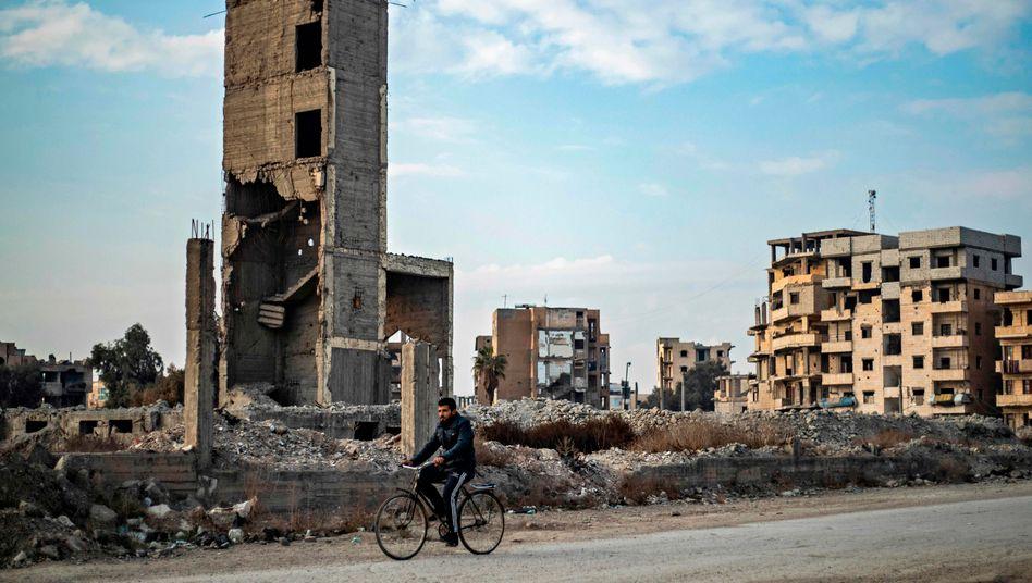 Zerstörte syrische Stadt Rakka, einst Hochburg des »Islamischen Staats« (Archiv)