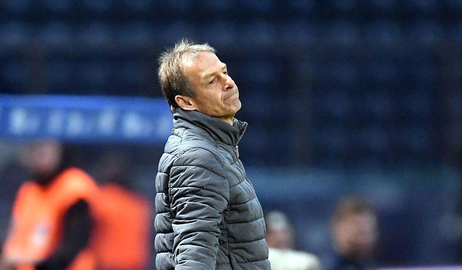 J¸rgen Klinsmann (Trainer Hertha BSC),entt?uscht am Spielfeldrand Hertha BSC Berlin - 1.FSV Mainz 05 1. Bundesliga 2019/