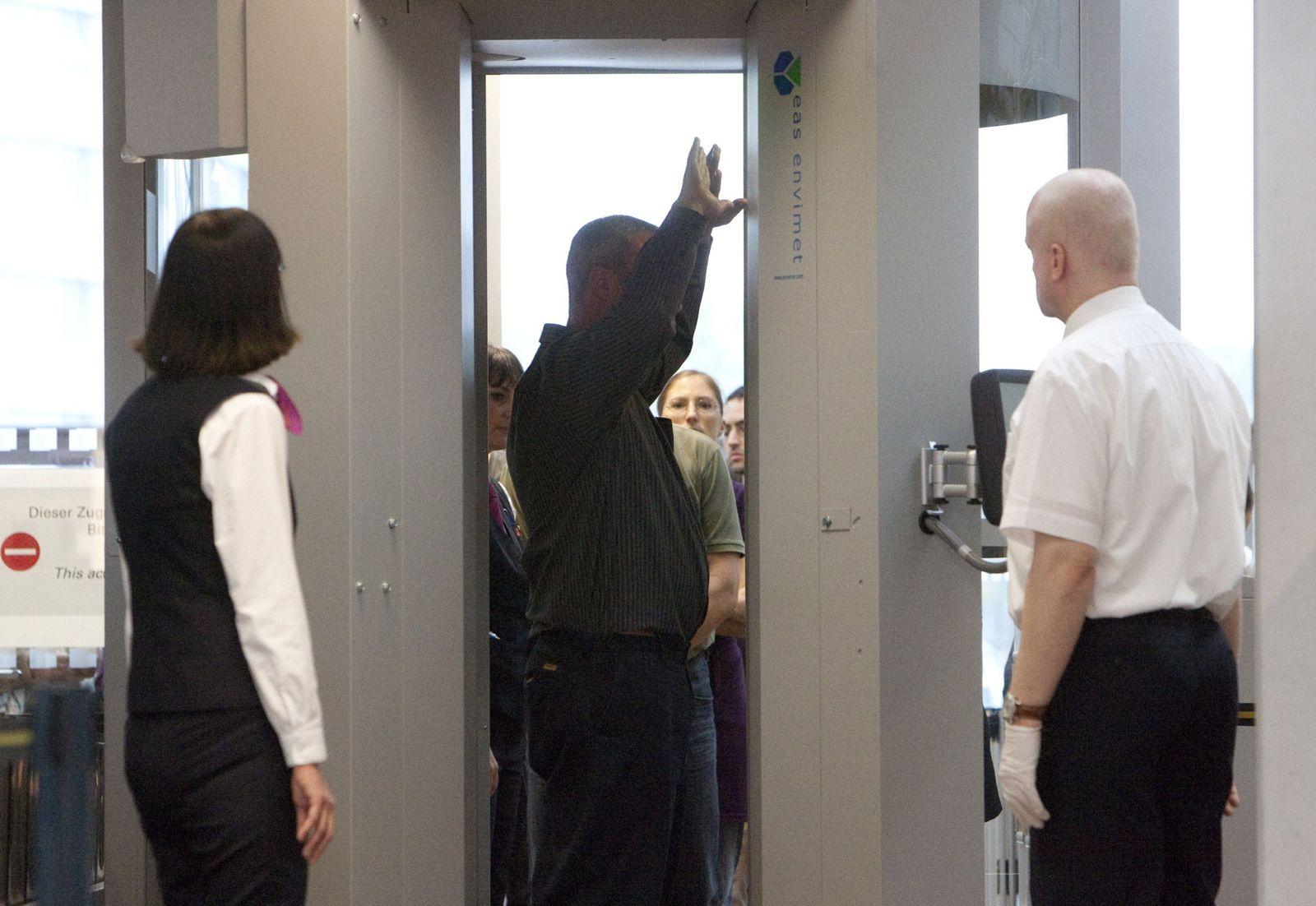 NICHT VERWENDEN Flugsicherheit / Sicherheitskontrolle / Nacktscanner