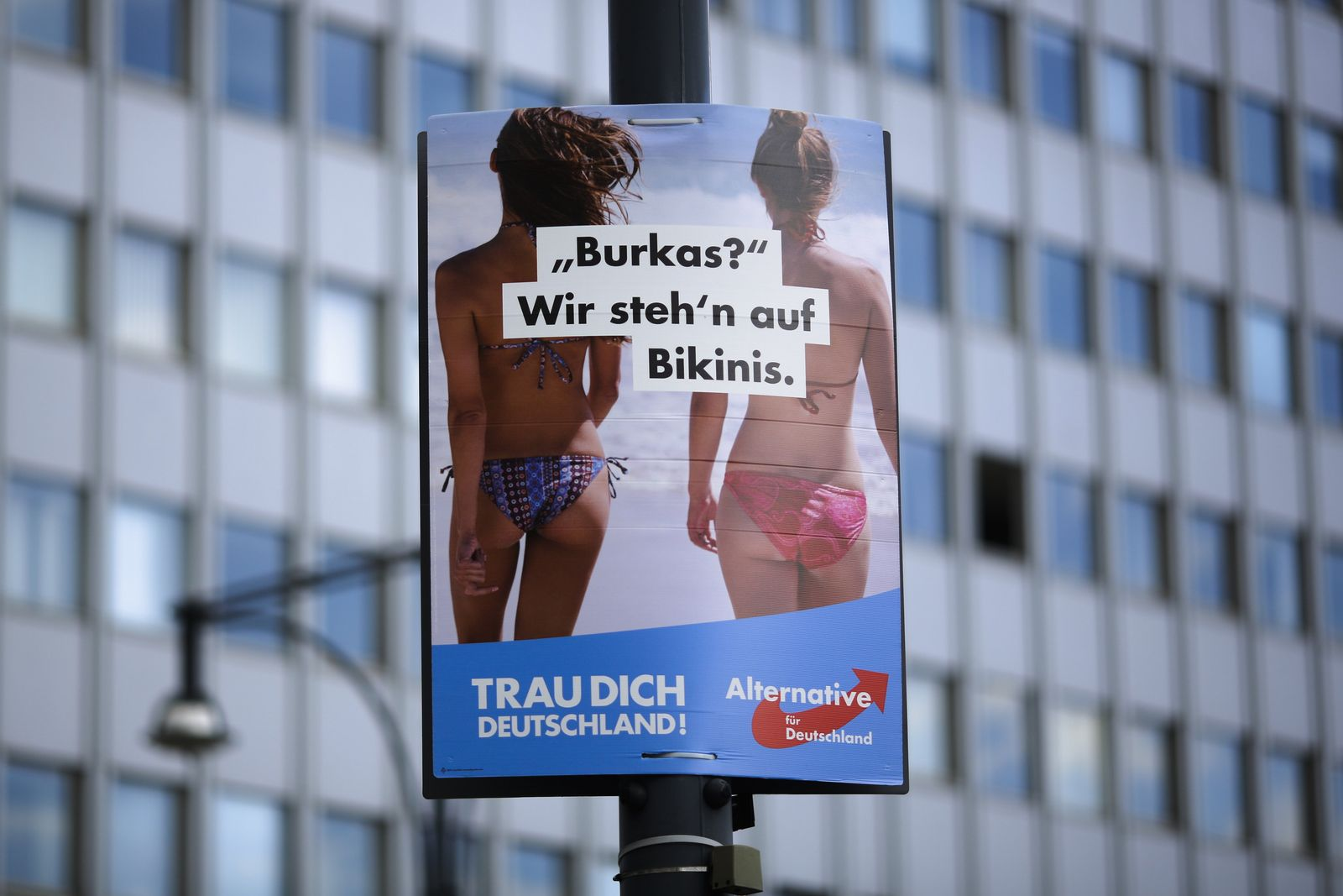 Germany Election AfD Plakat
