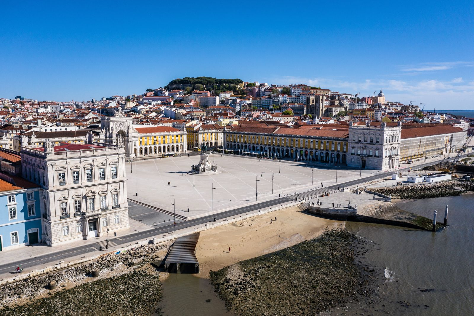 (EDITORS NOTE: Image taken with a drone) Praca do