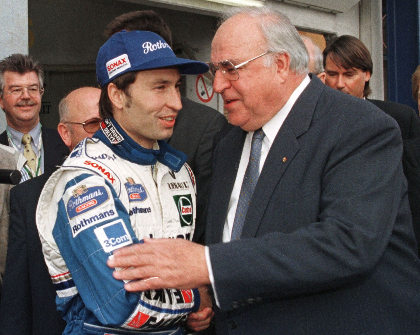 HEINZ HARALD FRENTZEN AND CHANCELLOR HELMUT KOHL